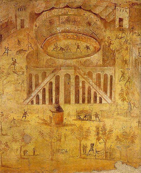 489px-Pompeji_-_Wandmalerei_-_Amphitheater